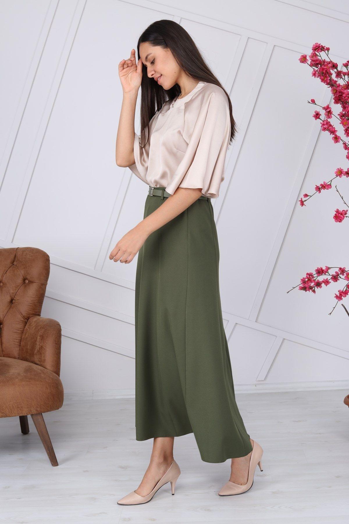 Long Skirts-Arm green