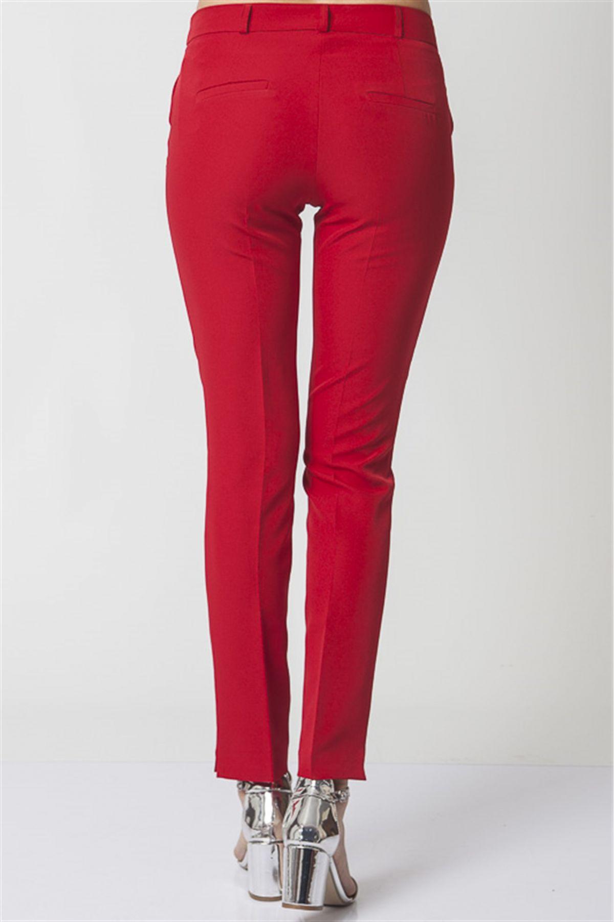 women pants-Red