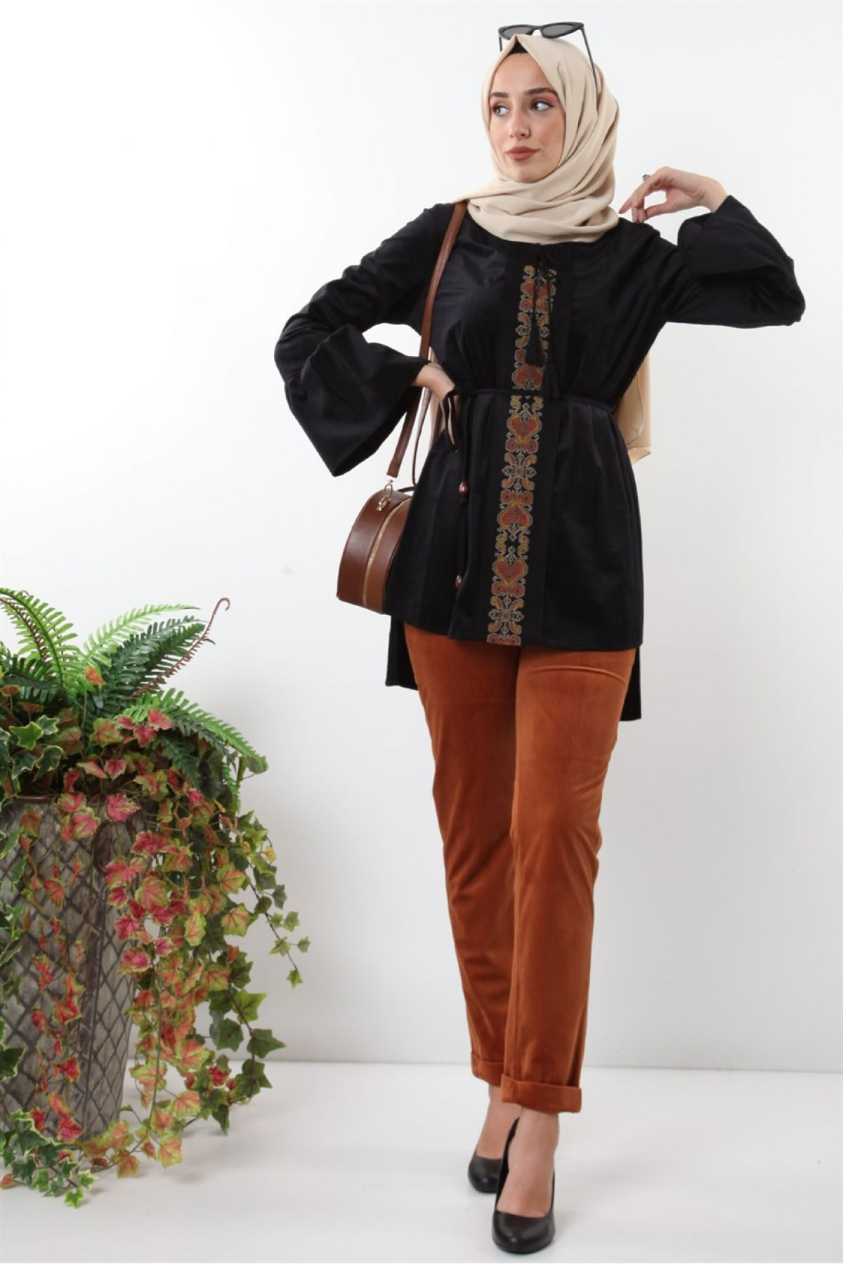 Pants and Blouse-Multi color