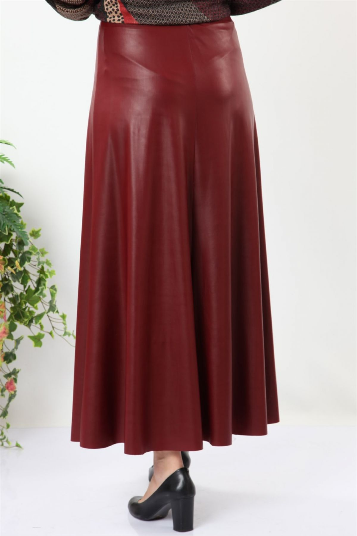 Long Skirts-Claret Red