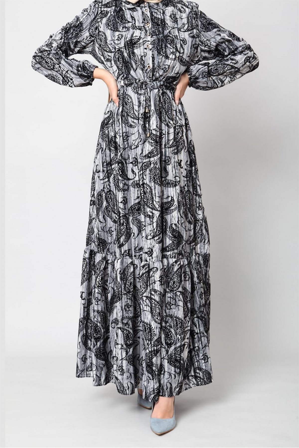 Casual Long Dresses-Grey
