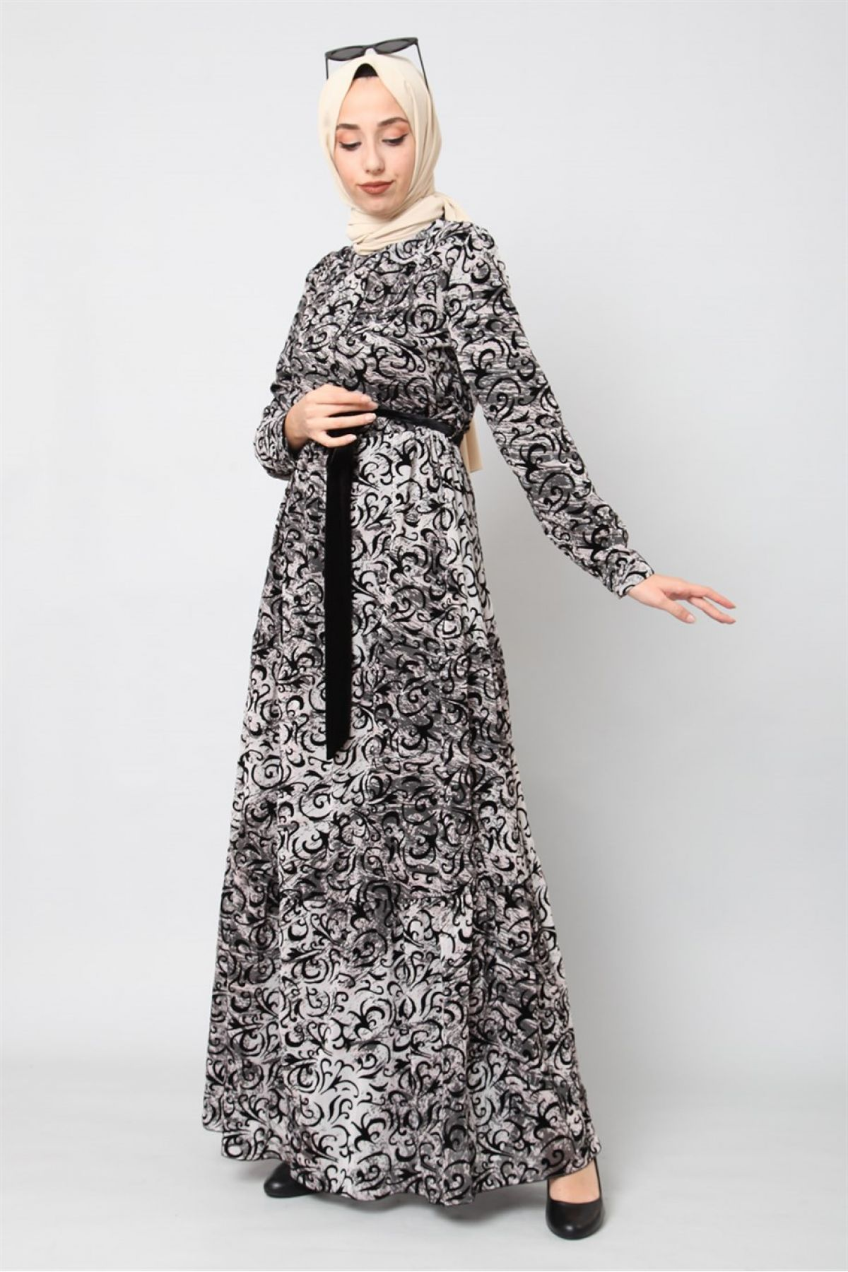 Casual Long Dresses-Black