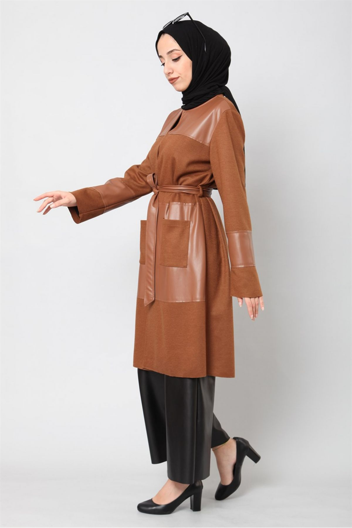 Leather & Suede Coats-Light Brown