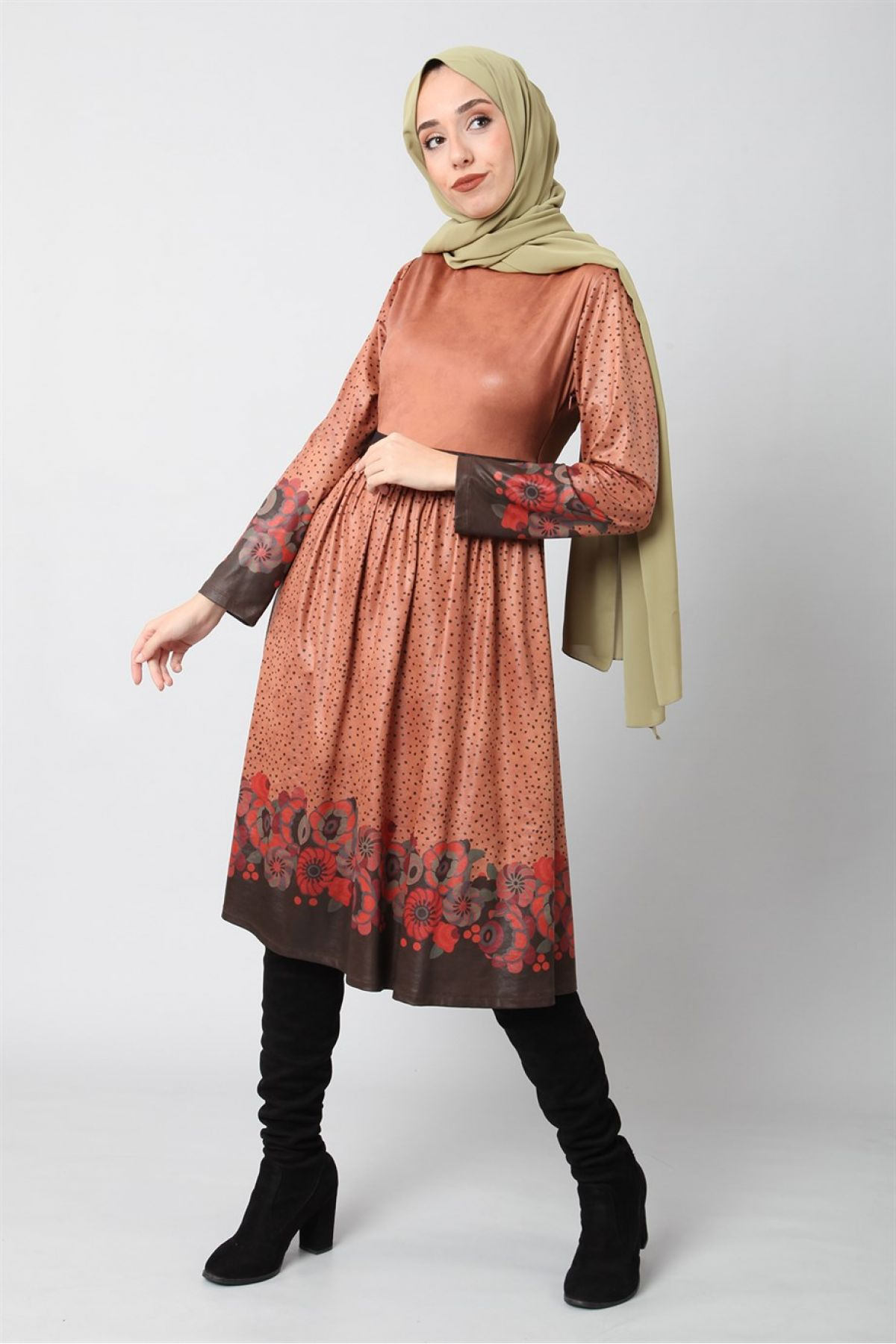 Dresses-Light Brown