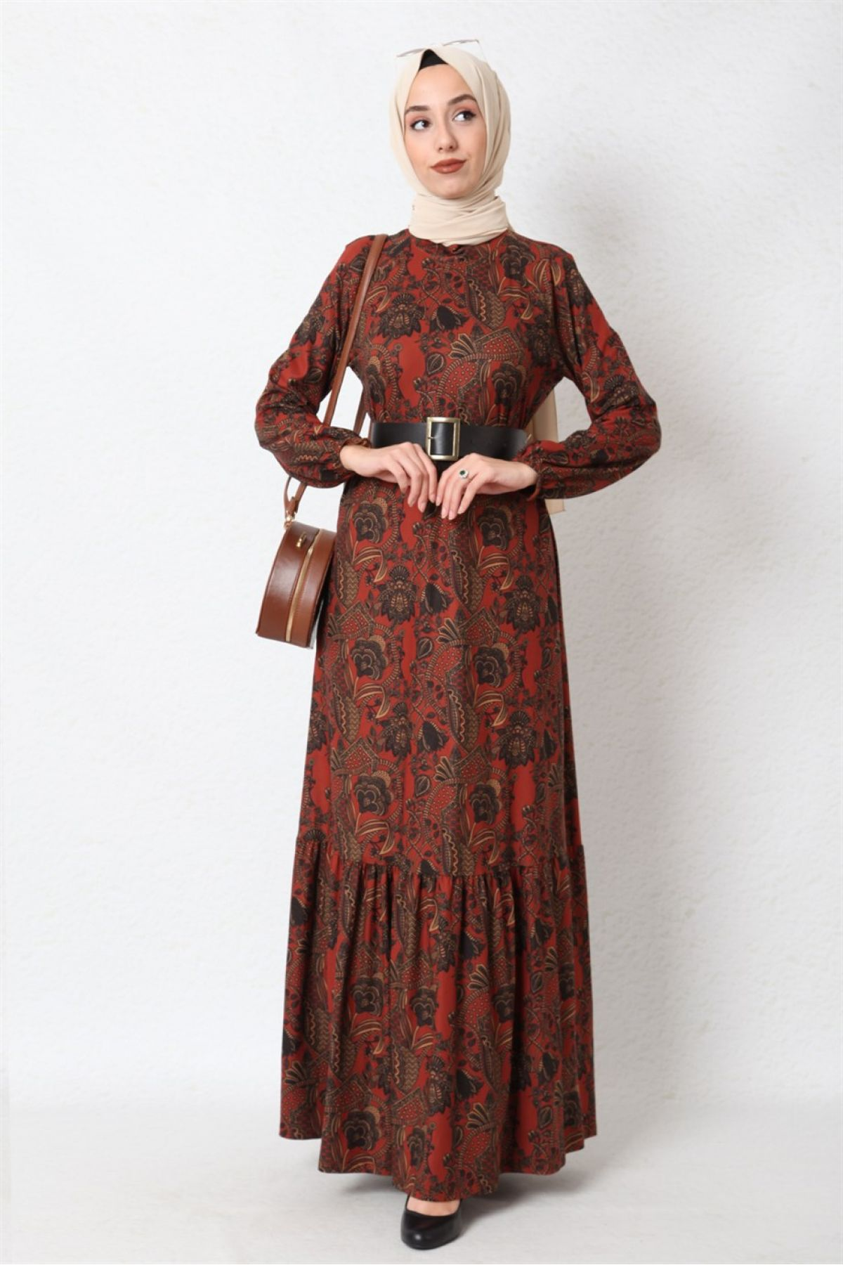 Casual Long Dresses-Orange