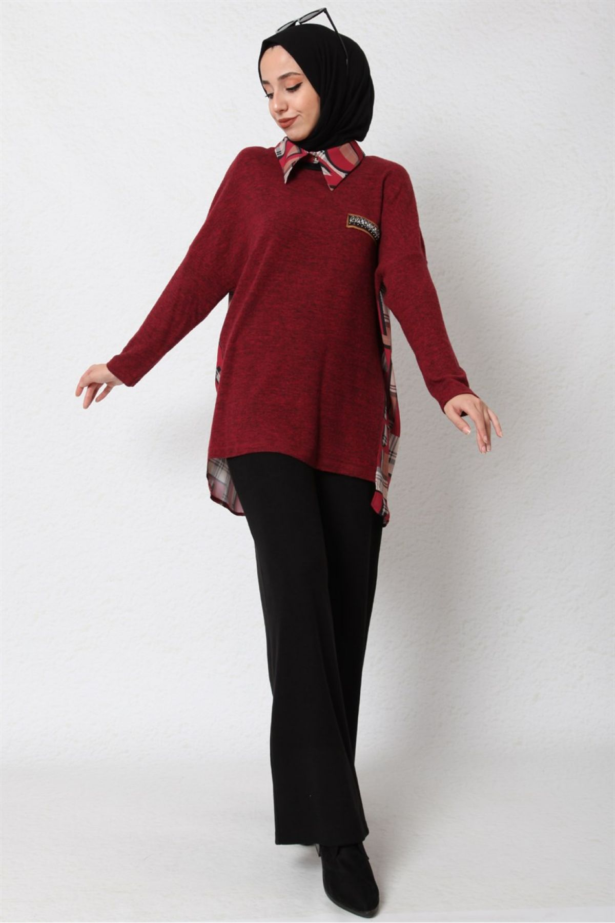 Blouses-Claret Red