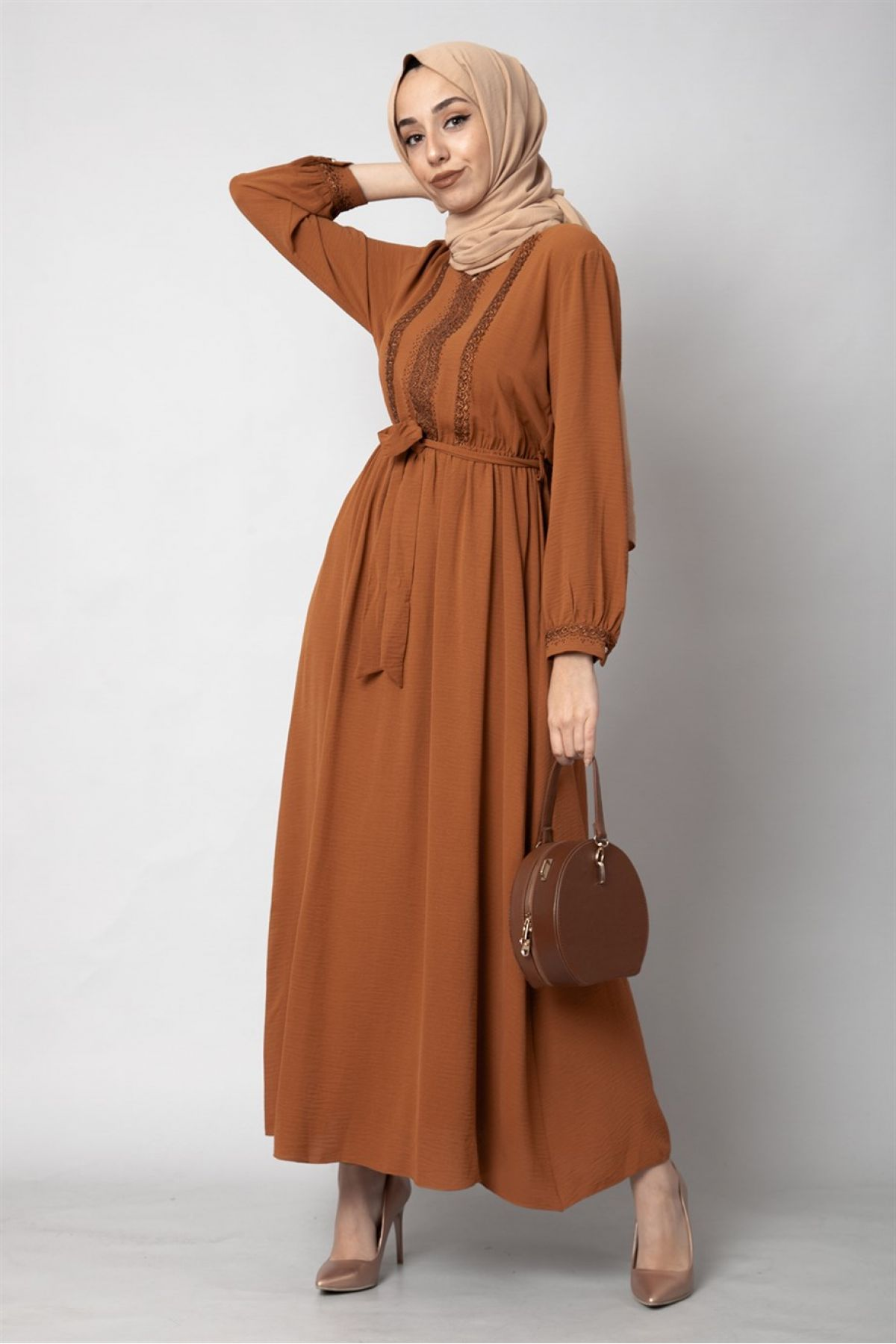 Casual Long Dresses-Mink