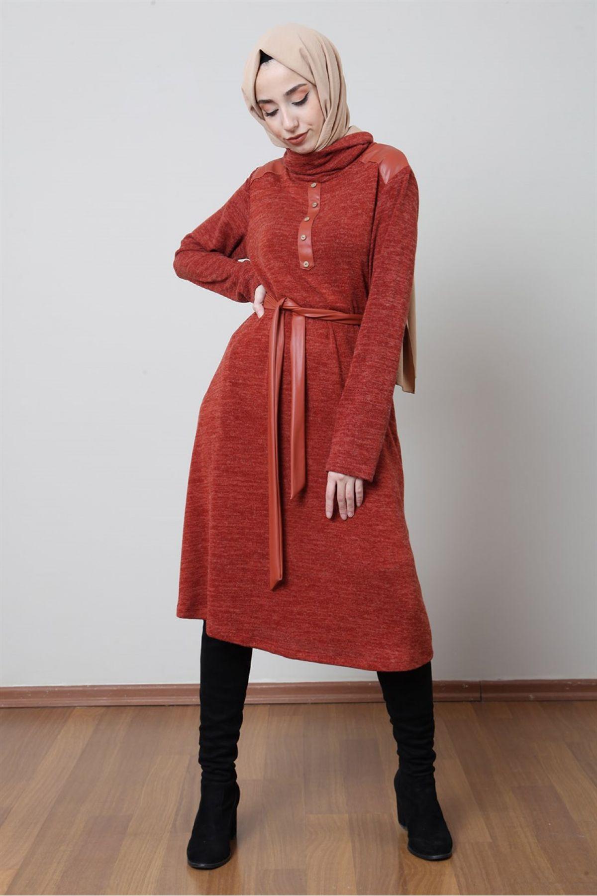 Casual Long Dresses-Terracotta