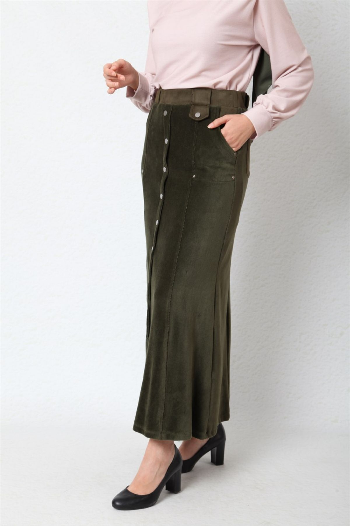 Long Skirts-Khaki
