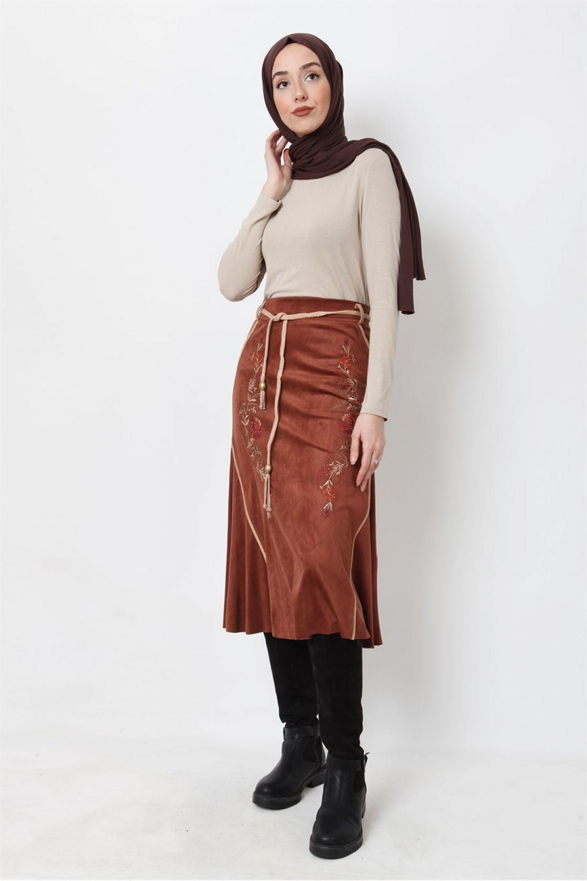 Long Skirts-Light Brown