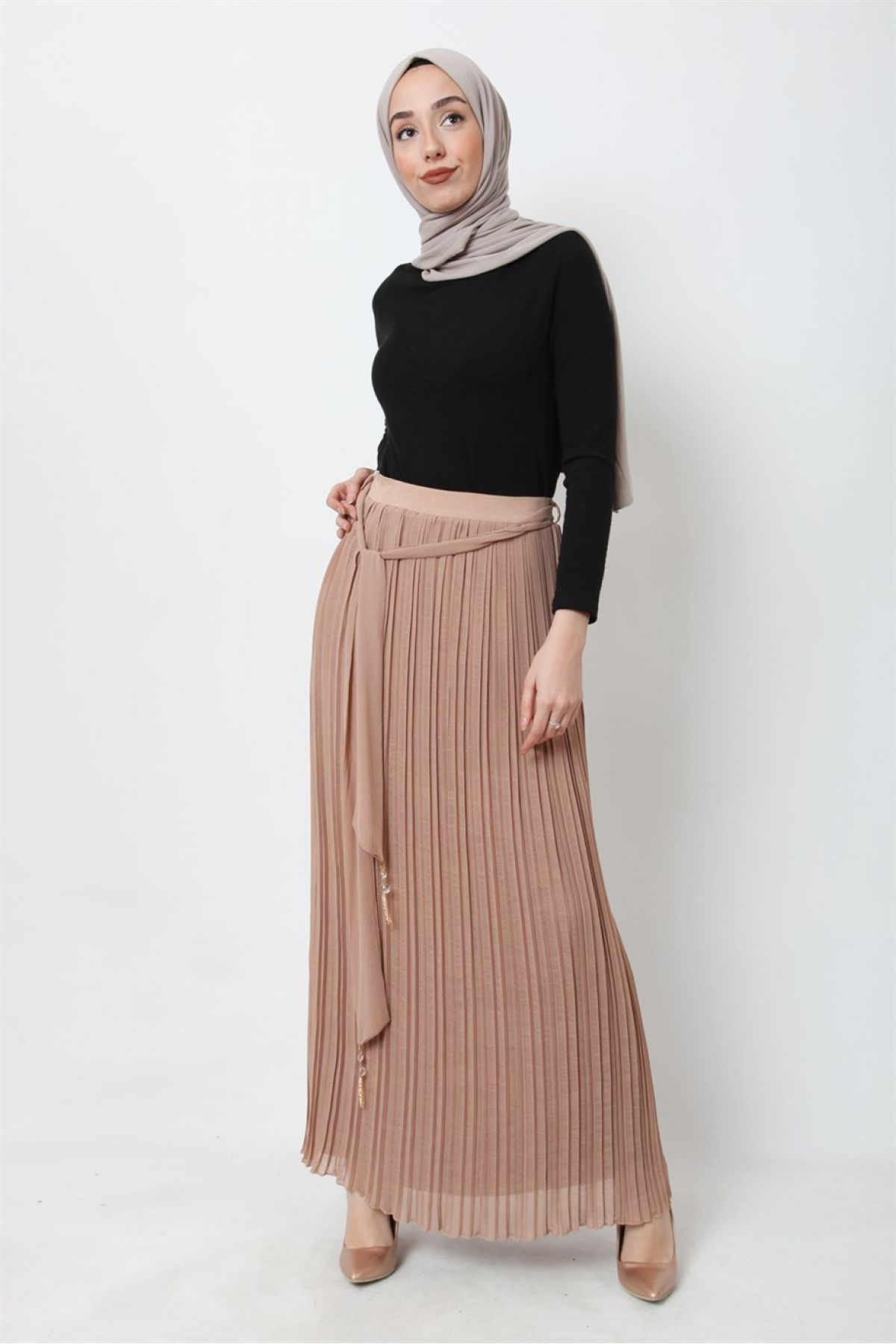 Long Skirts-Beige
