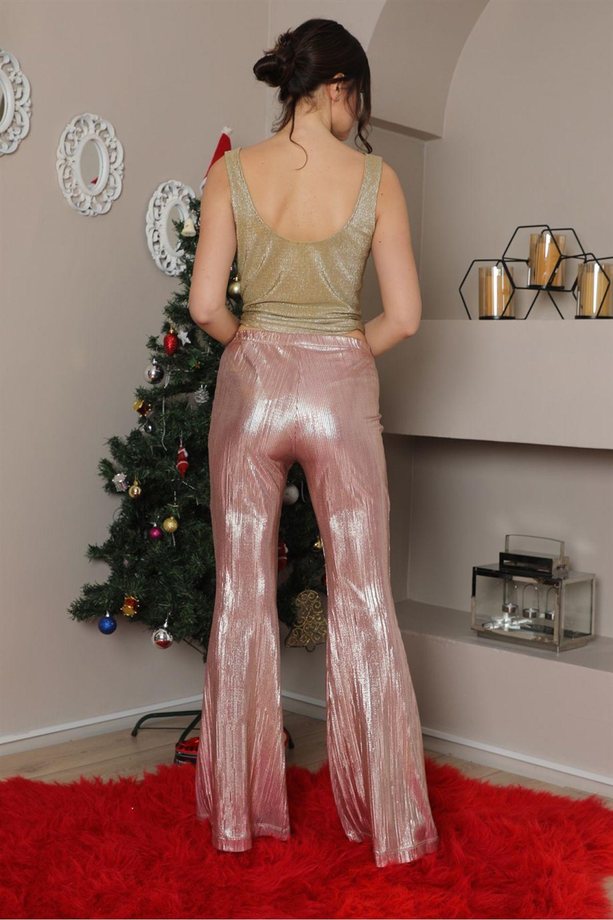 women pants-Neon Pink