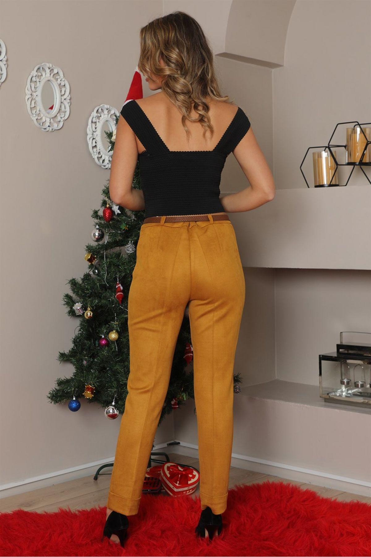 women pants-Neon Yellow
