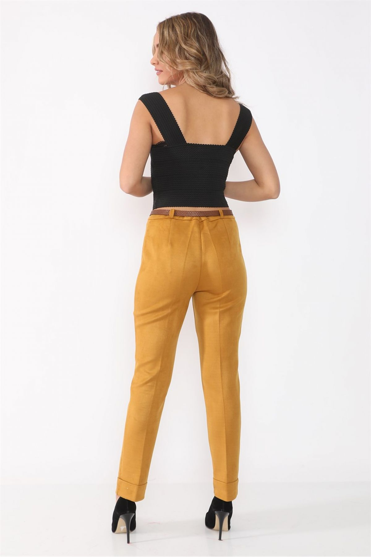 women pants-Neon Yellow