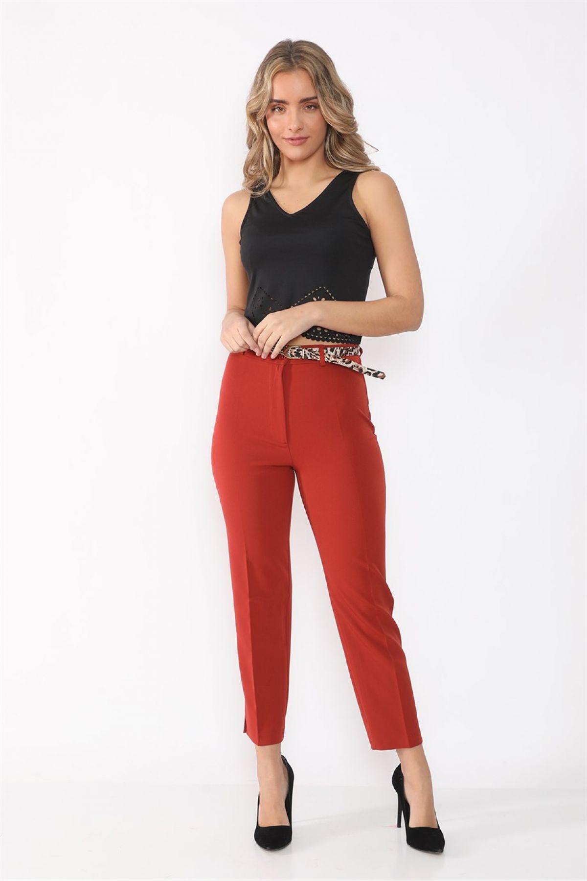women pants-Orange