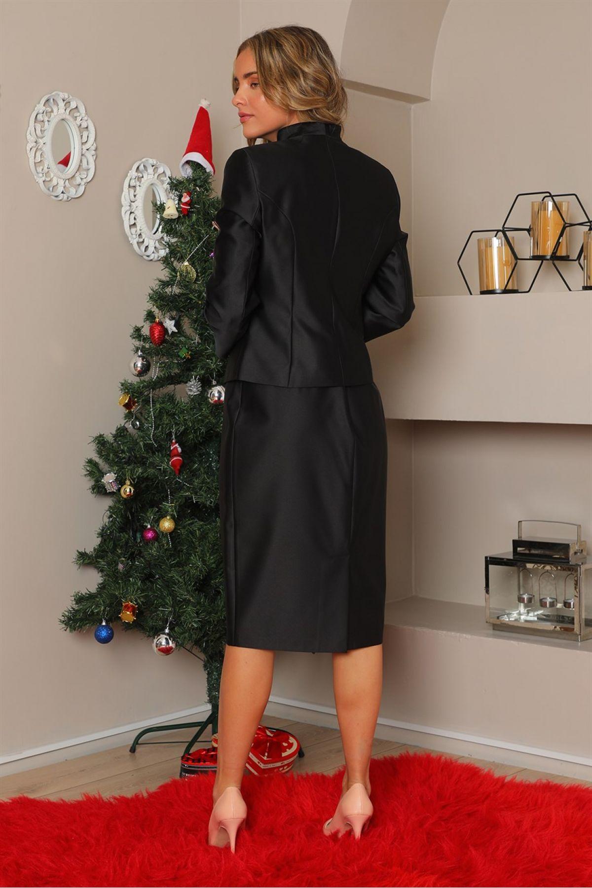 Jacket and Skirt-Black
