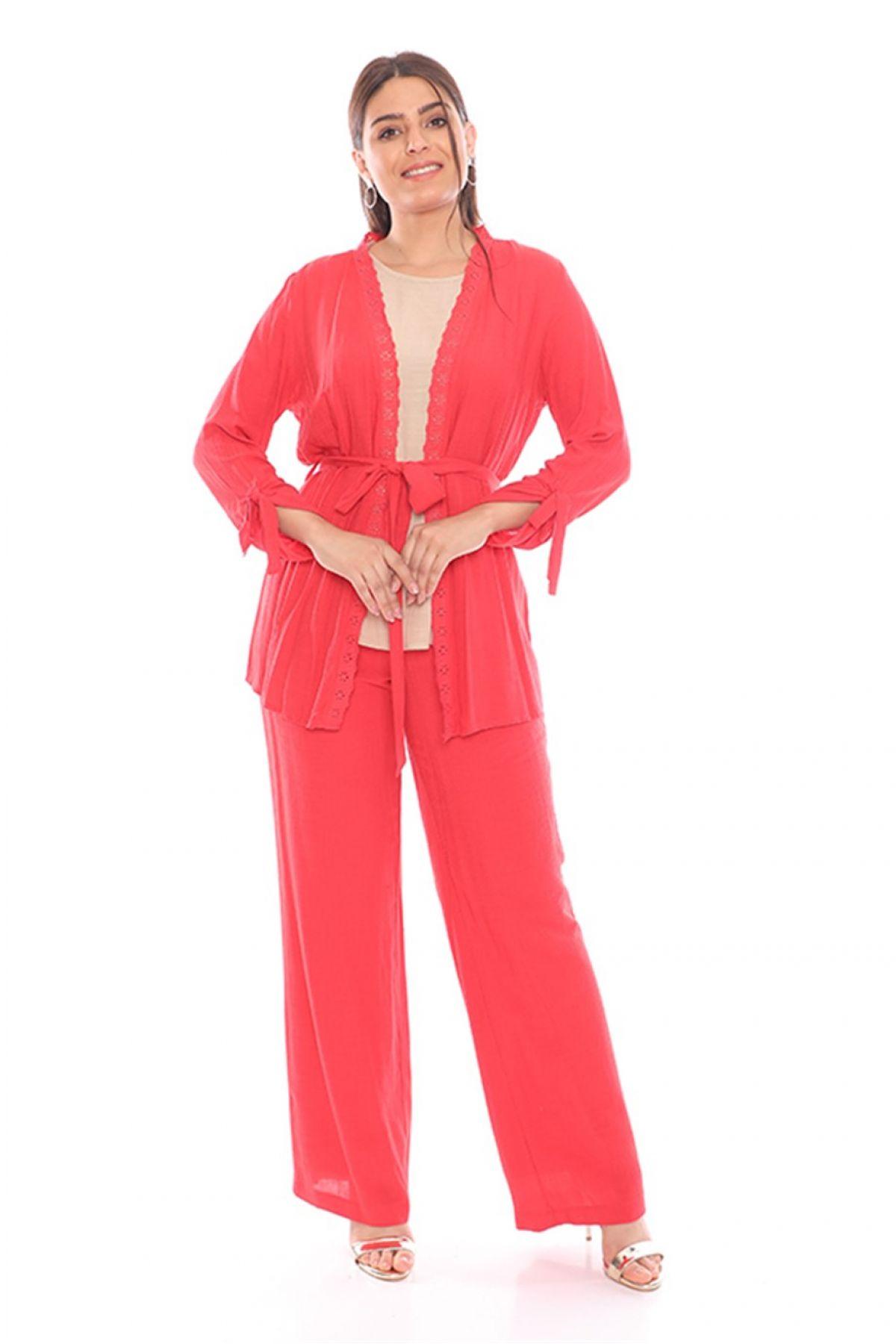 Women's 3 Piece Suits-Terracotta
