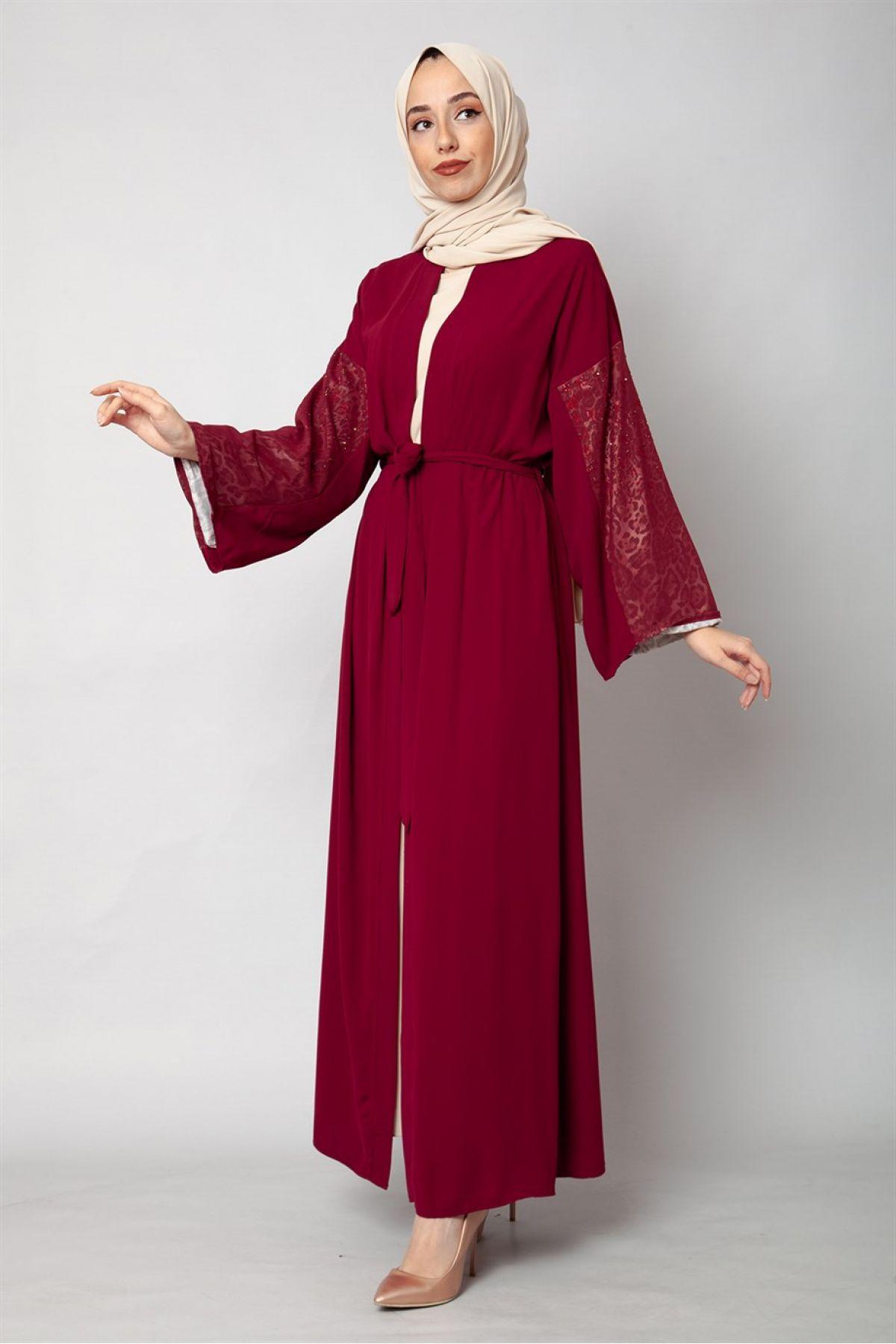 Evening Dress-Claret Red