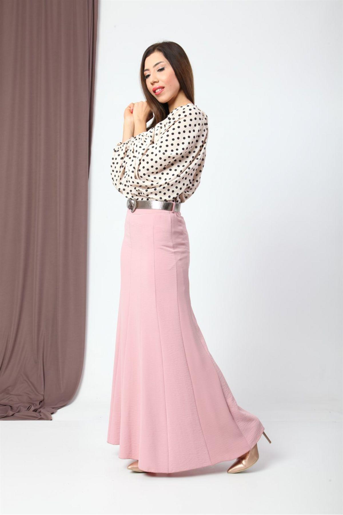 Long Skirts-powder pink