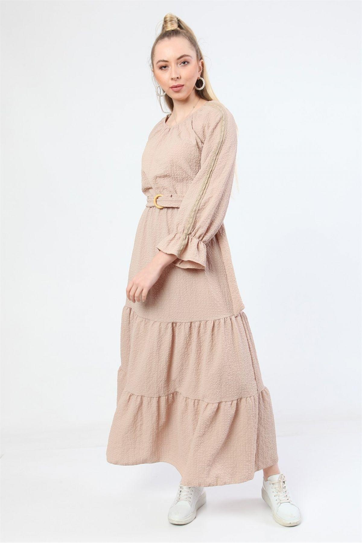 Casual Long Dresses-Beige