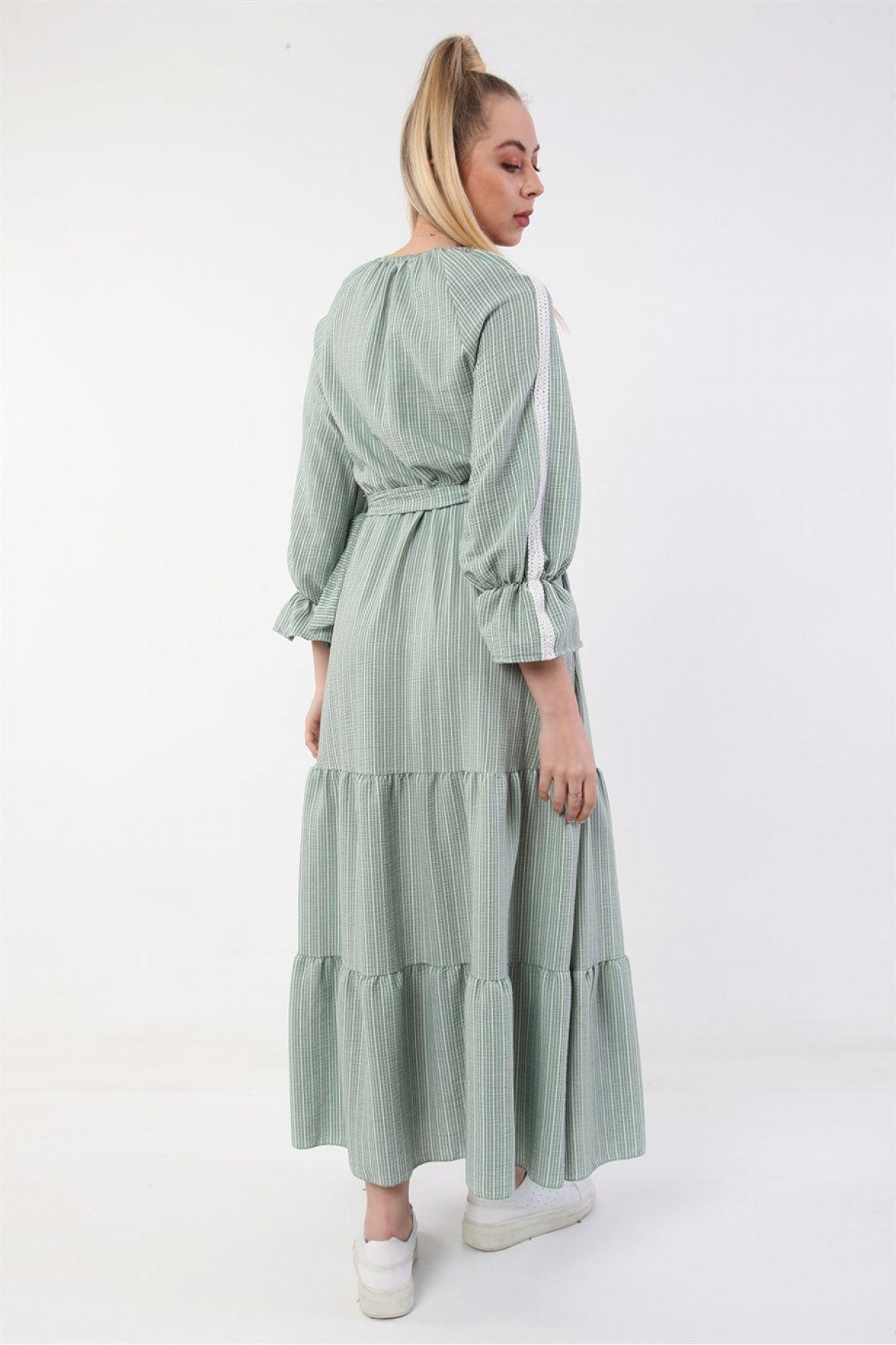 Casual Long Dresses-olive-drab