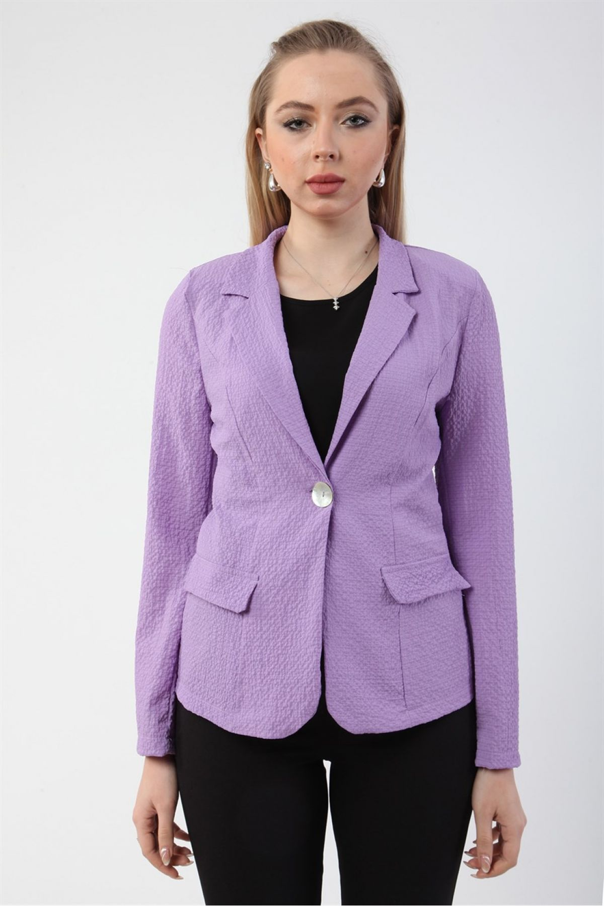 Casual Jacket-Lilac
