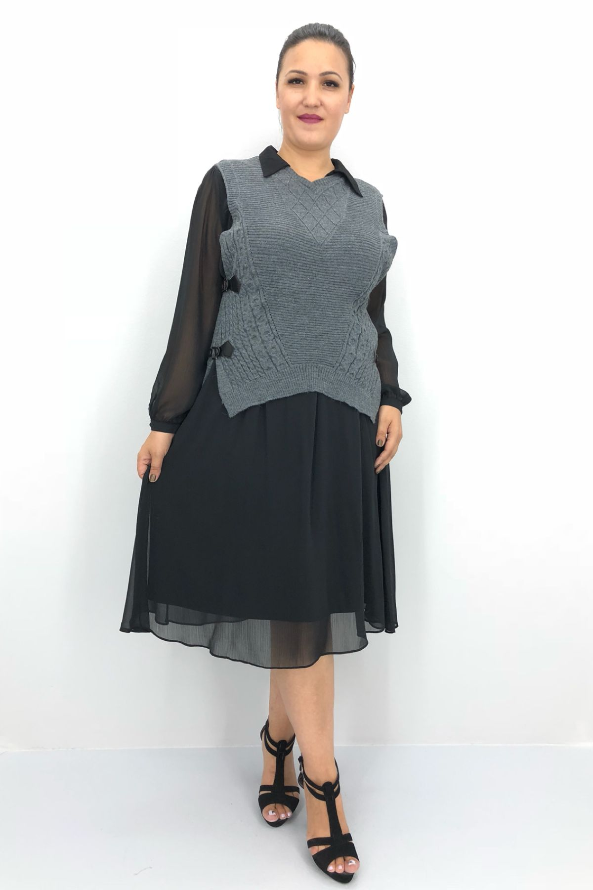 Day Dresses Medium-Light Grey