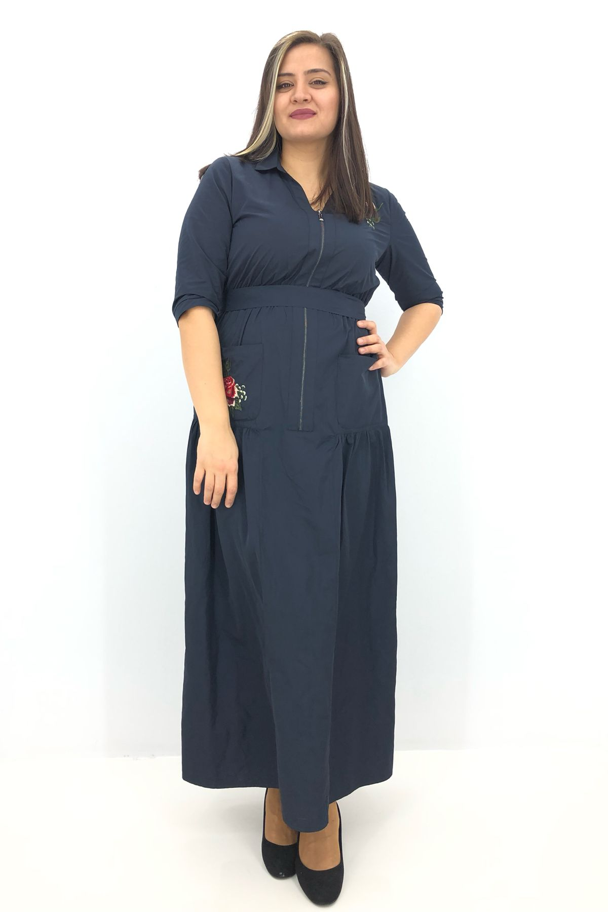 Day Dresses Long-Dark Blue