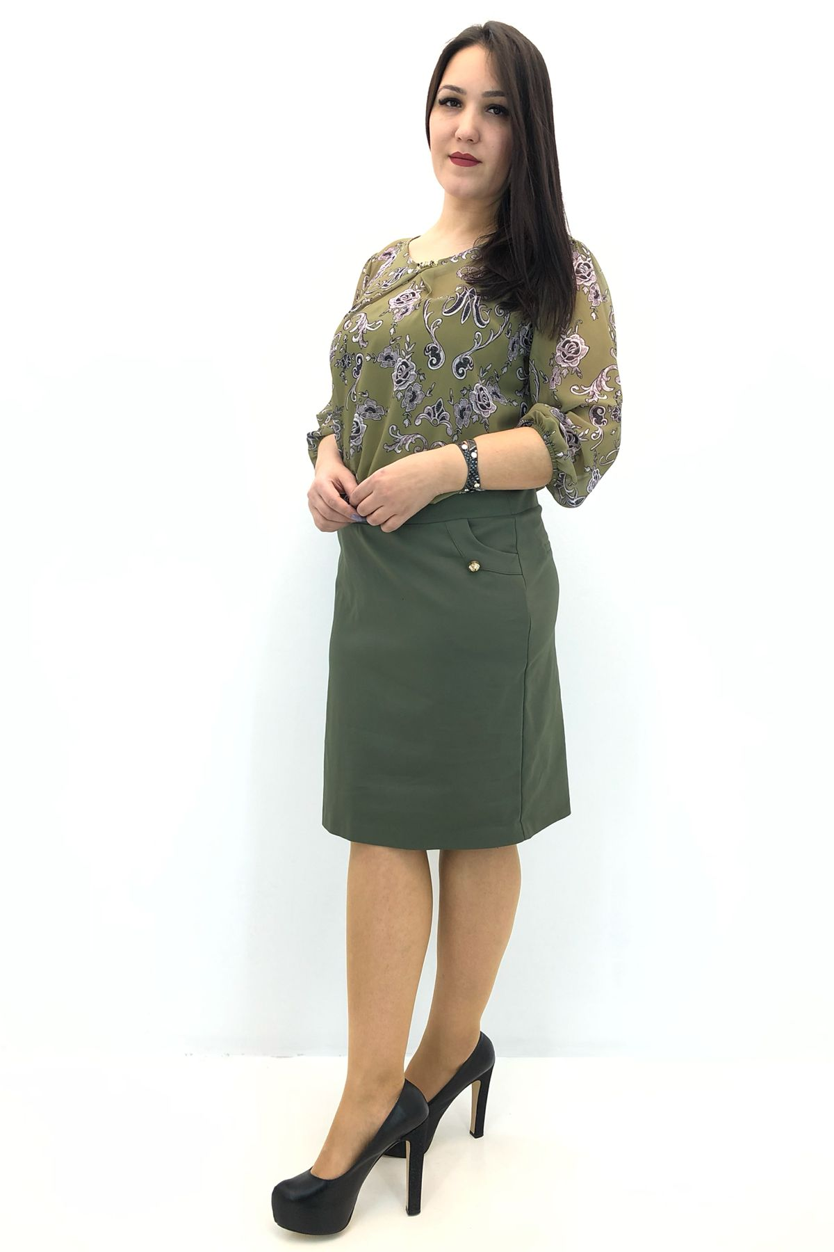 Day Dresses Medium-Soldier Green