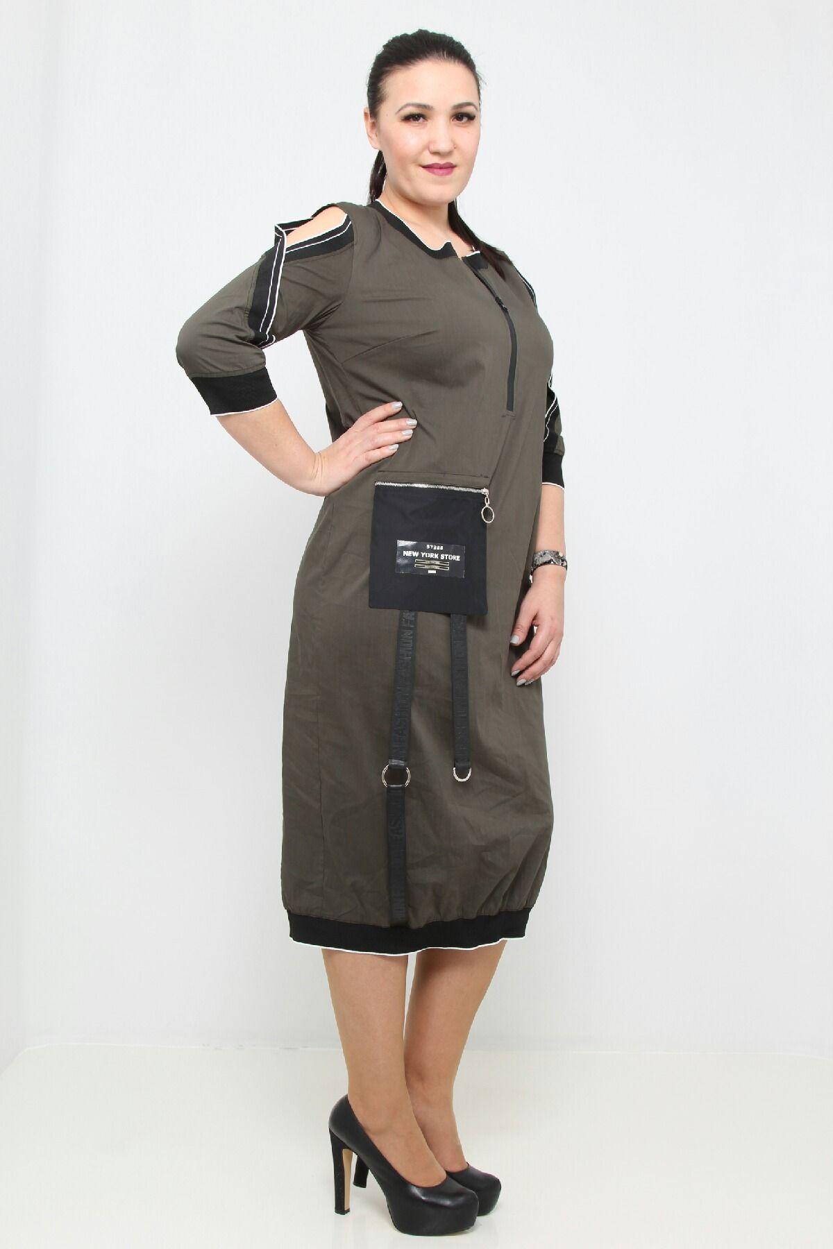 Day Dresses Medium-Khaki