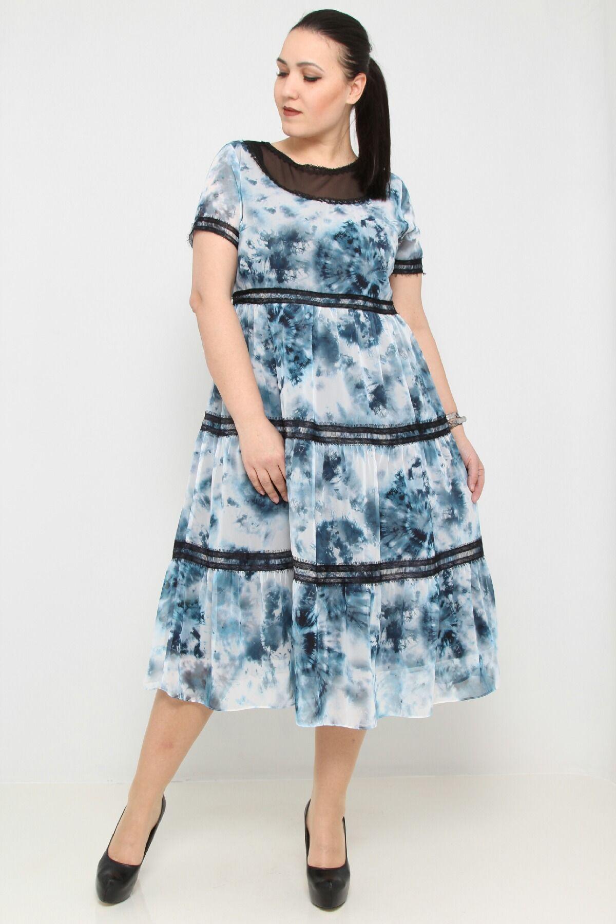 Day Dresses Medium-Petrol Blue