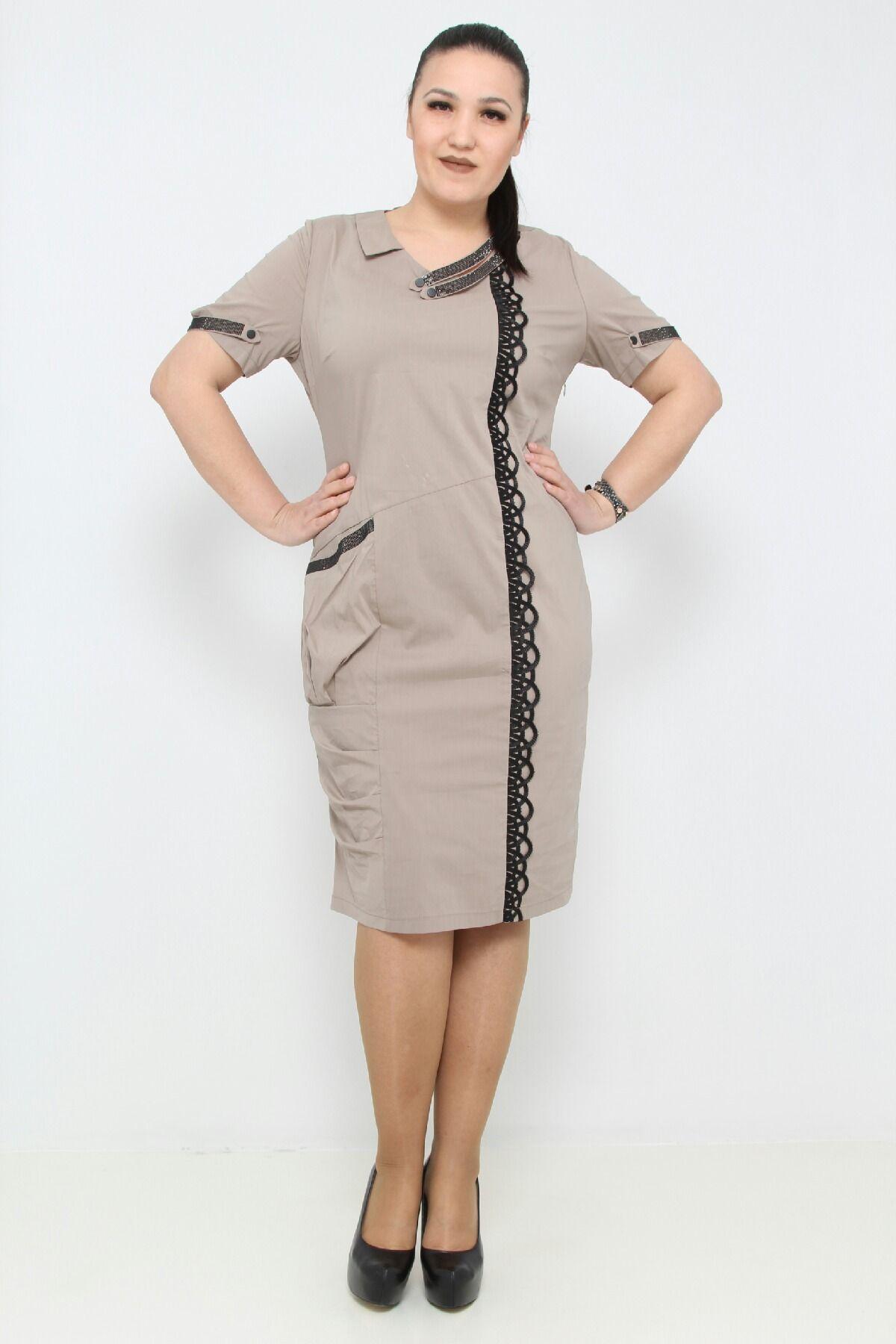 Day Dresses Medium-Mink