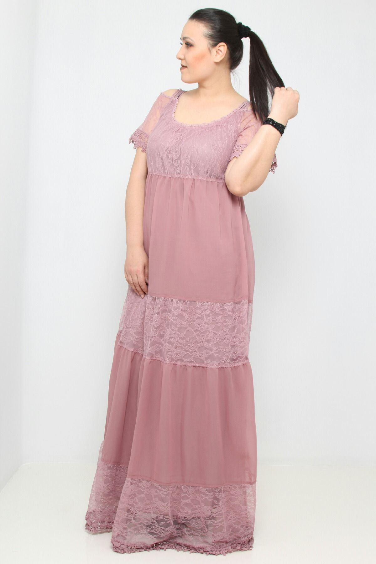 Day Dresses Long-powder pink