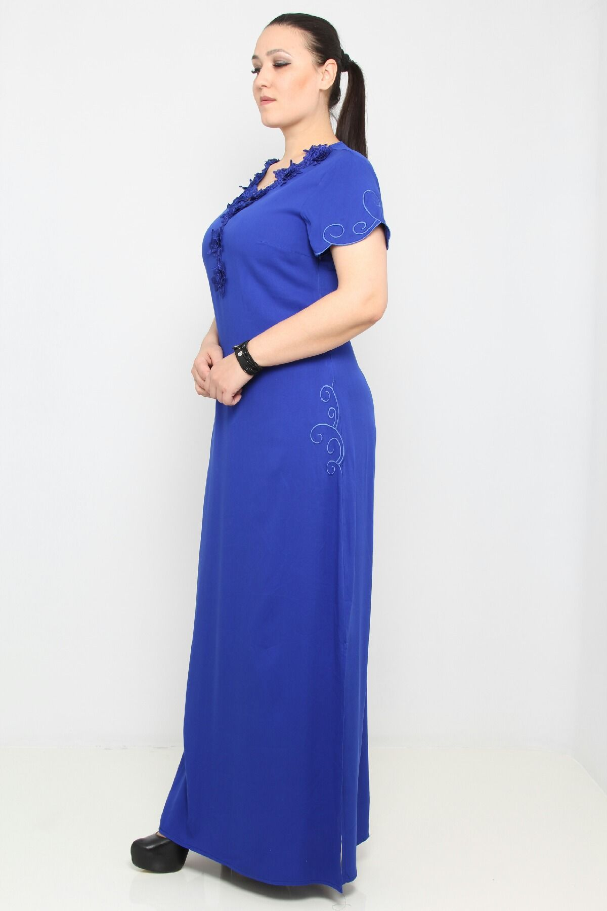 Day Dresses Long-Bright Blue