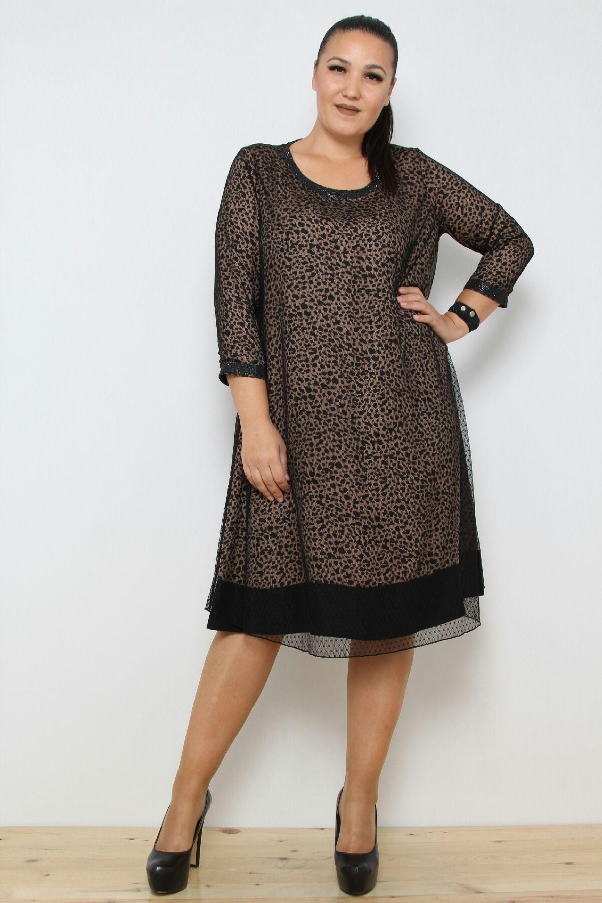 Day Dresses Medium-Brown