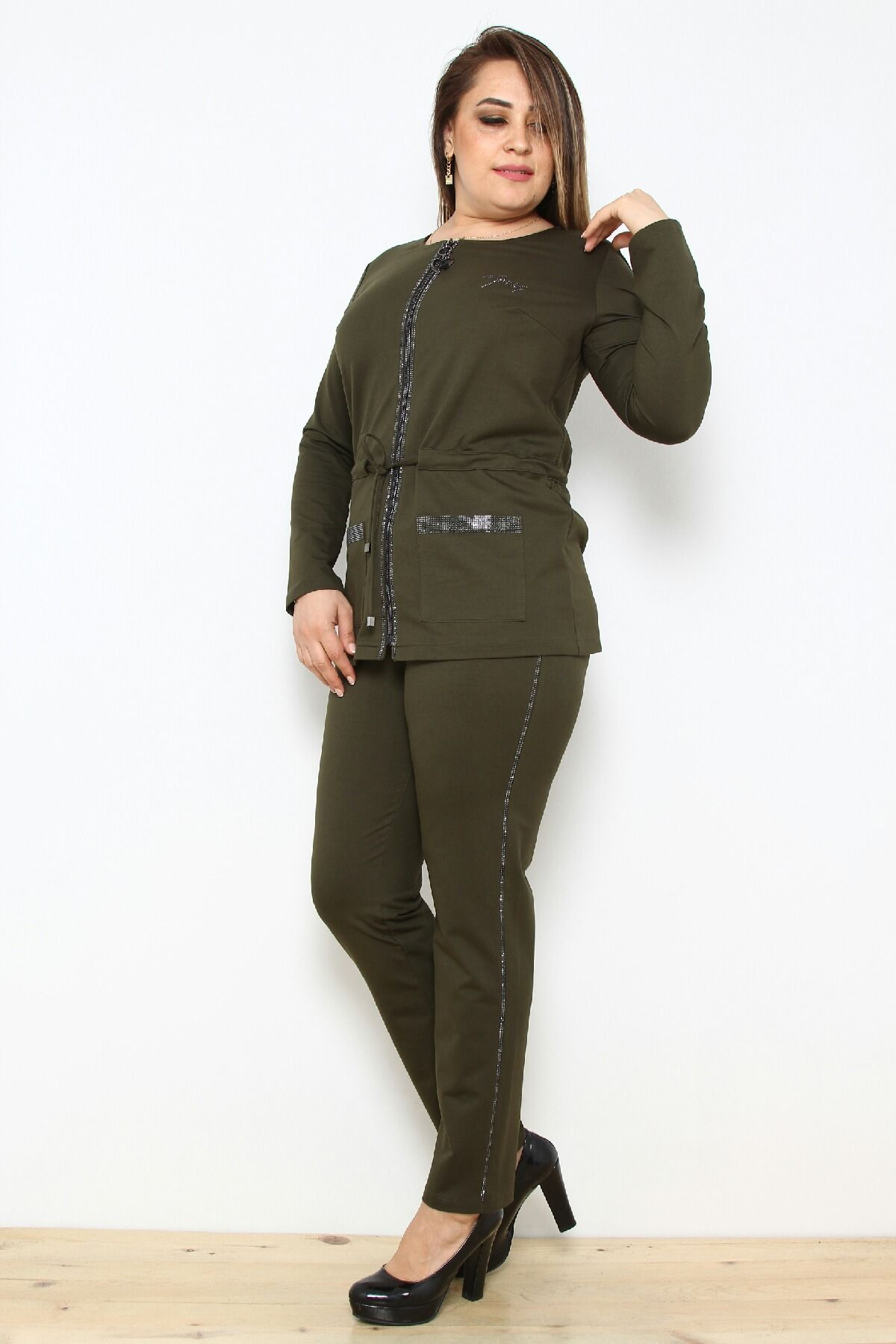 Two-Piece Suit-Khaki