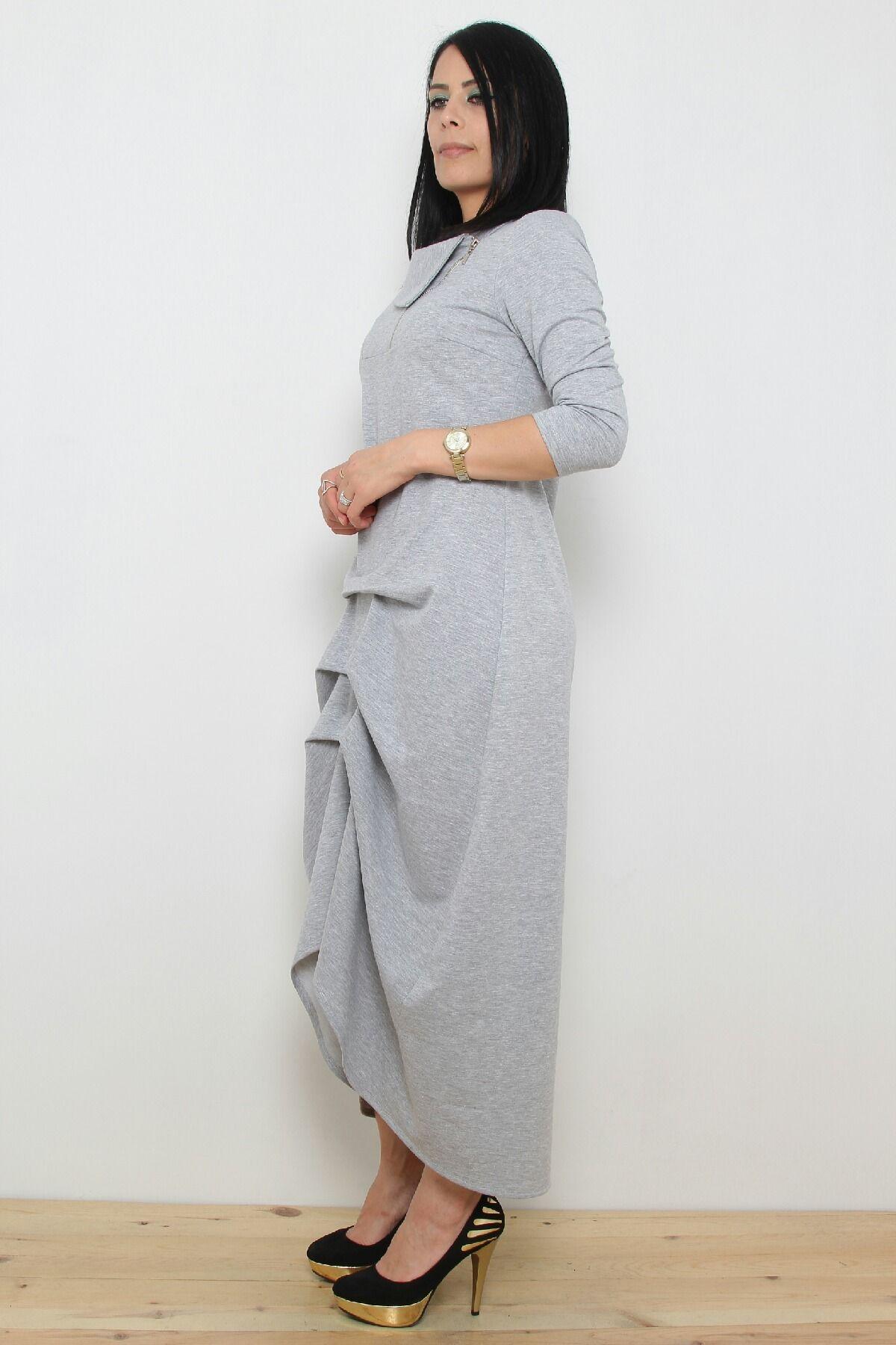 Day Dresses Long-Grey