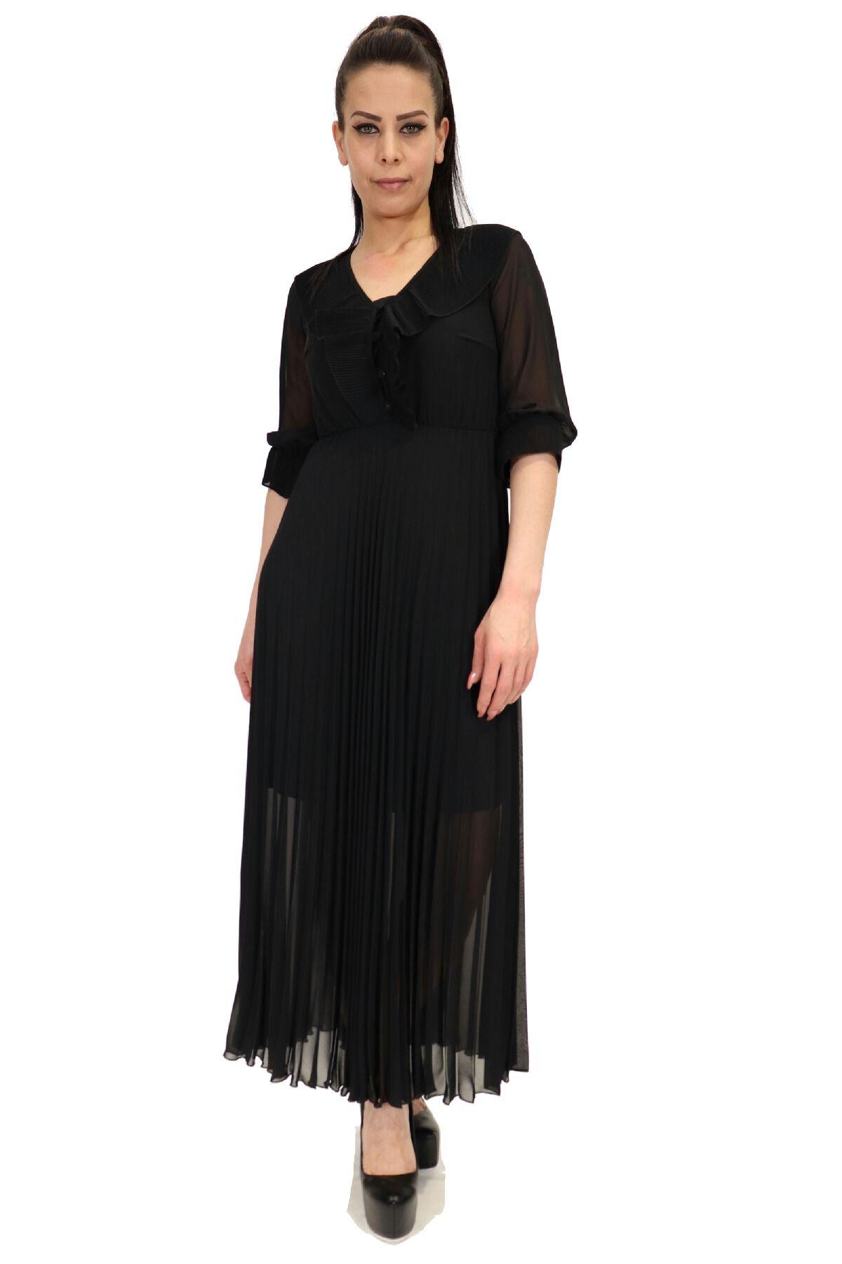 Day Dresses Long-Black