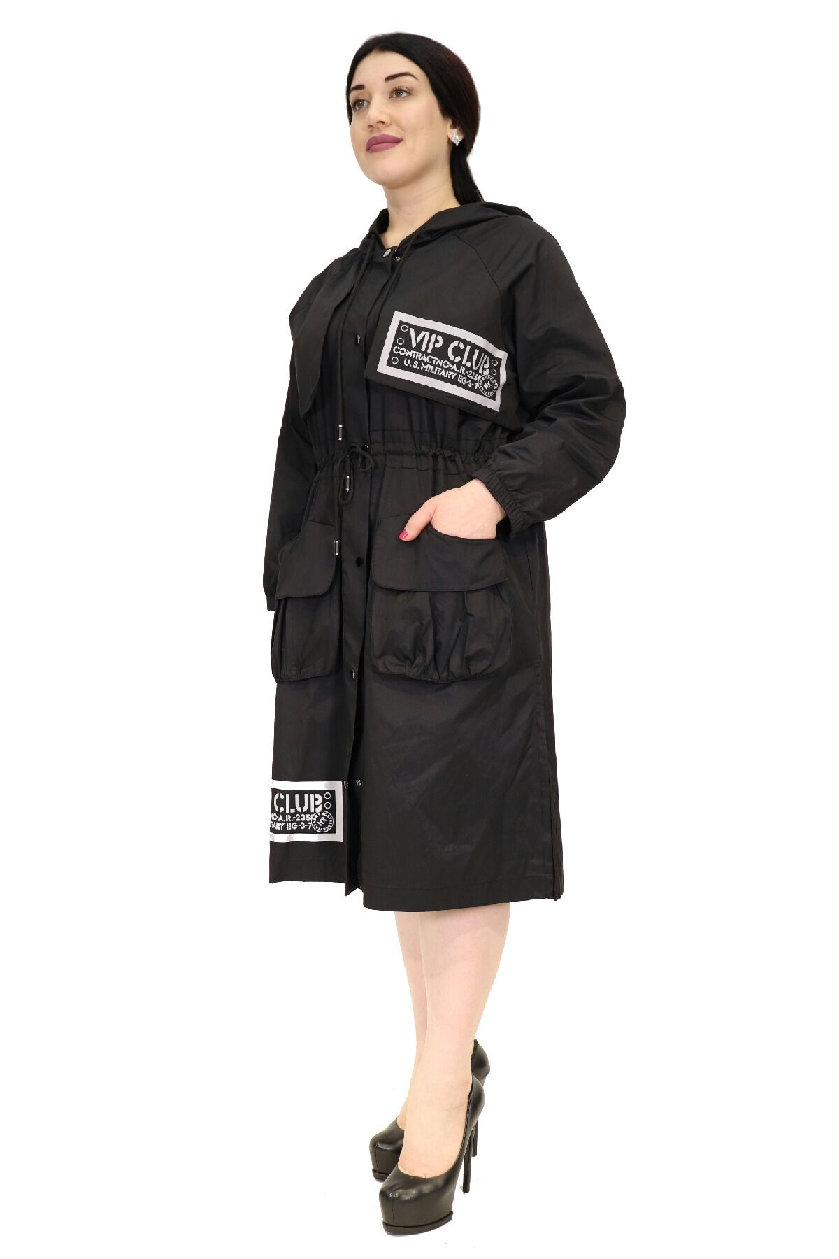 Trench Coats-Black