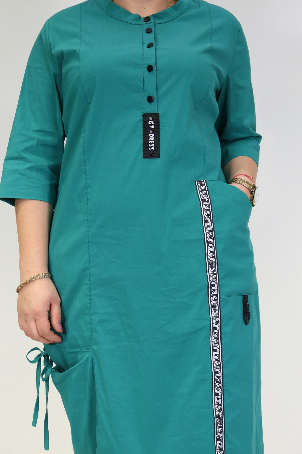 Day Dresses Medium-Light green