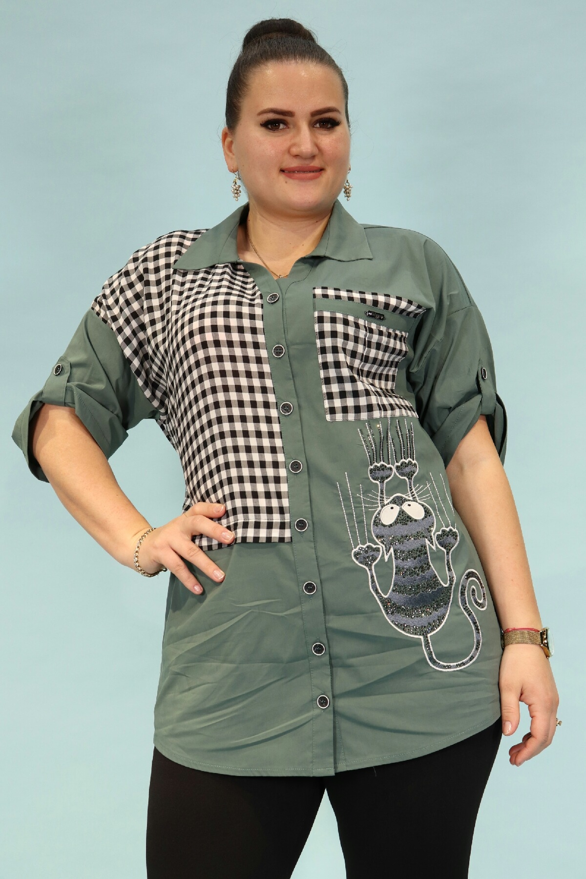 Shirt-Petrol Green