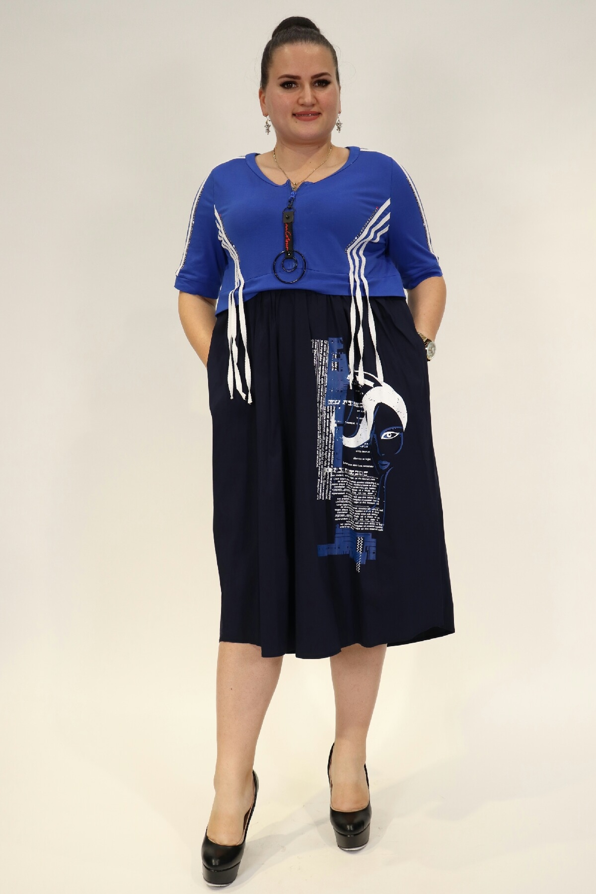 Day Dresses Medium-Bright Blue