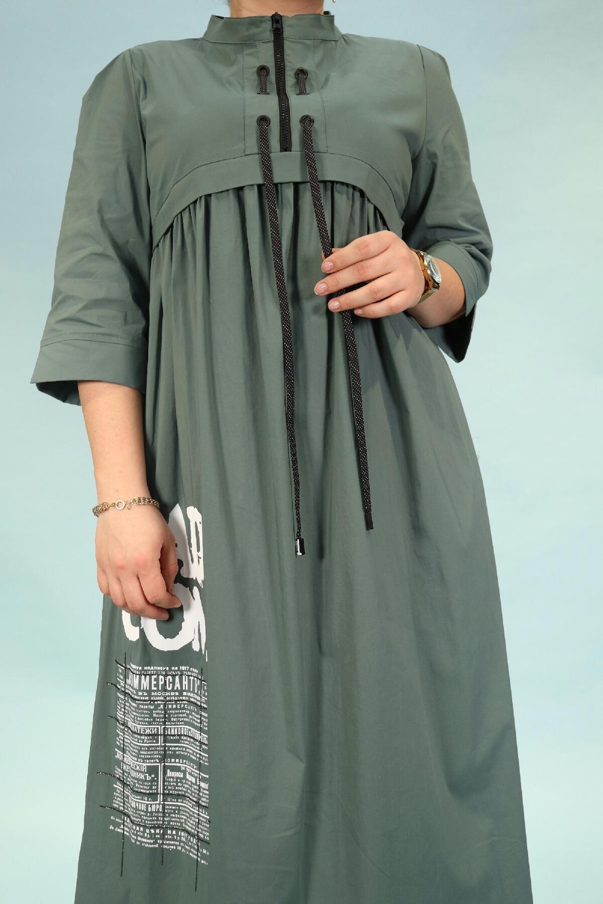 Day Dresses Medium-Petrol Green