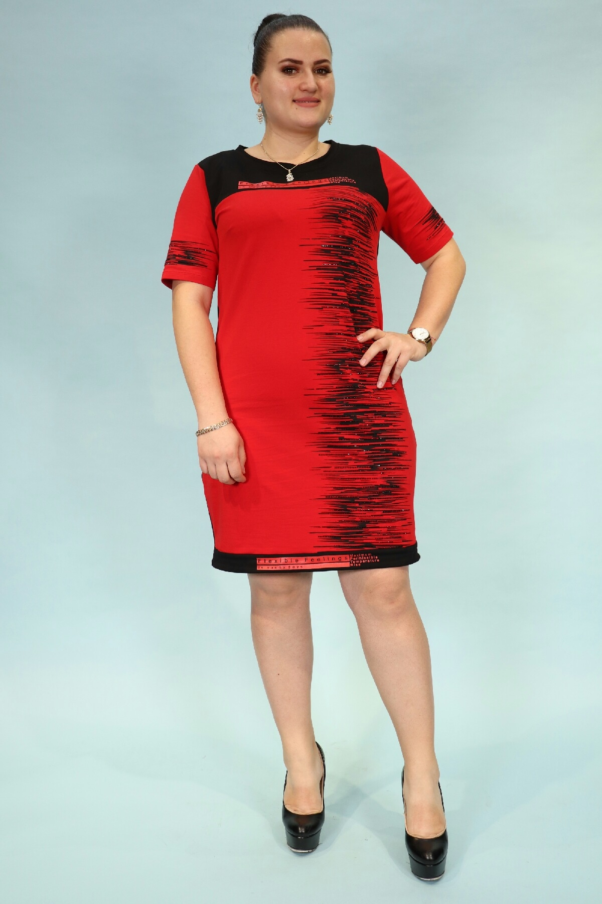 Day Dresses Medium-Red