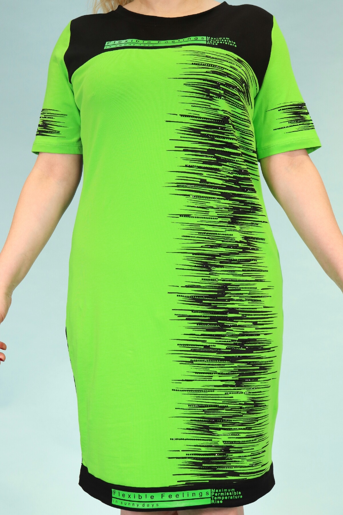 Day Dresses Medium-Neon Green