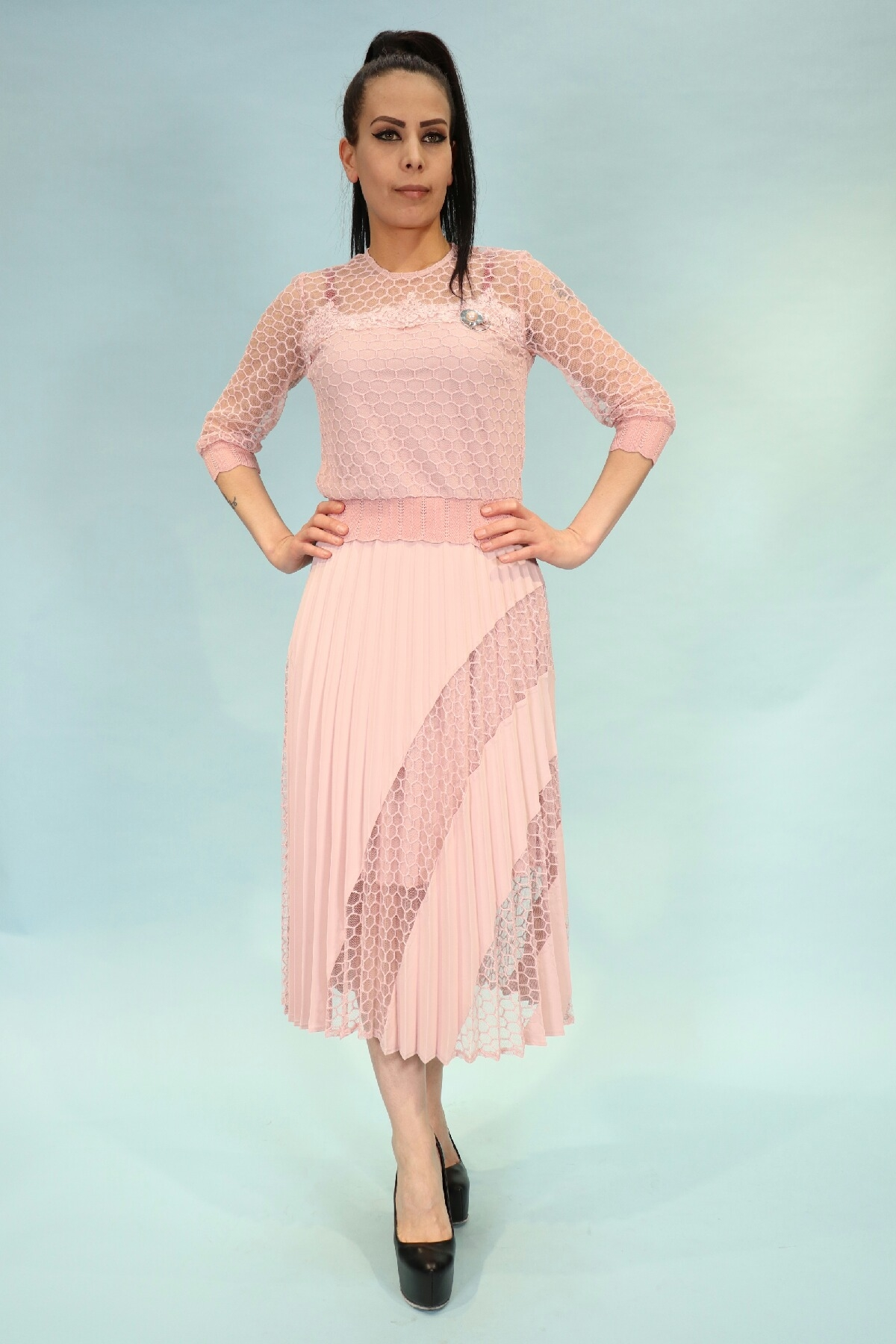 Two-Piece Suit-powder pink