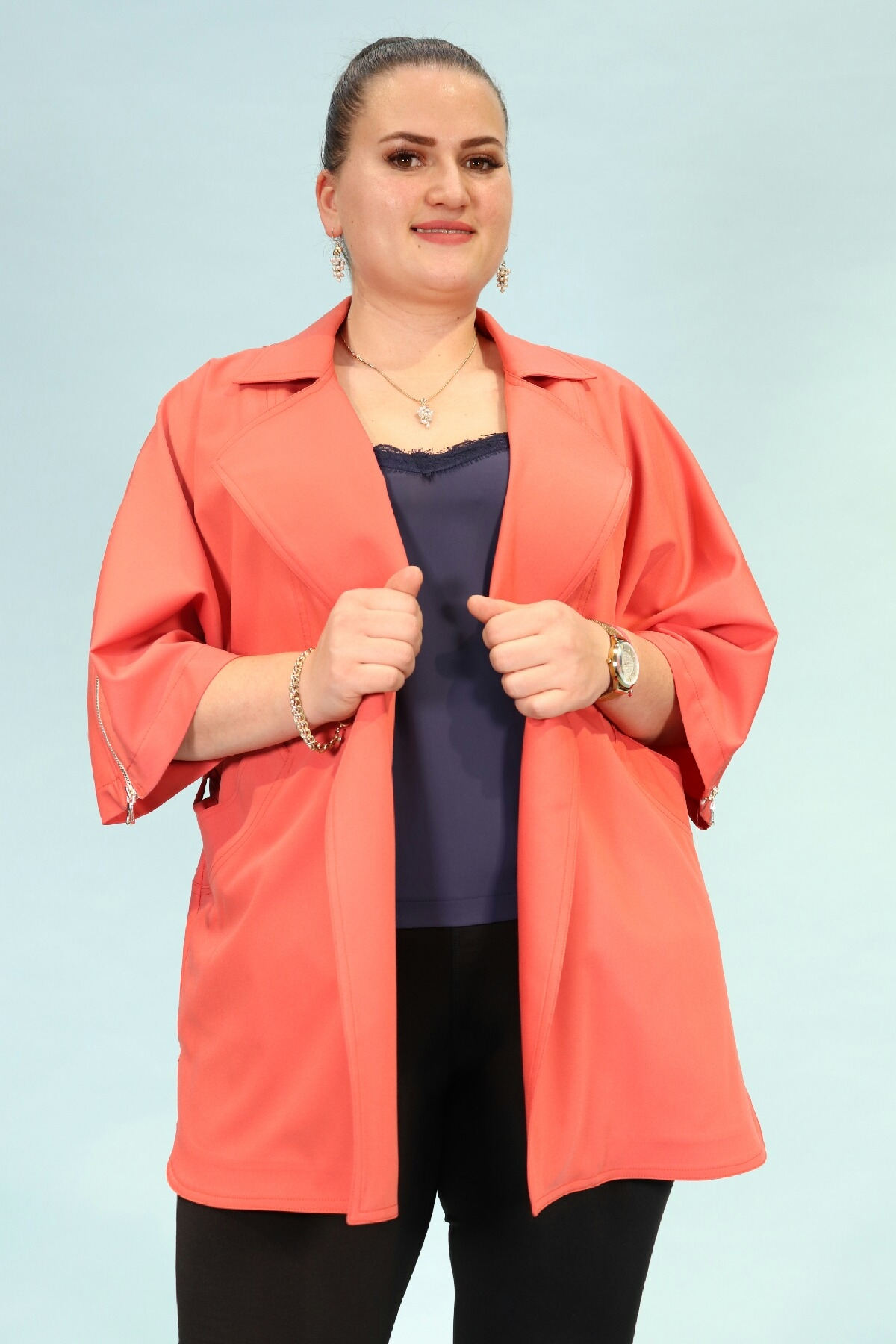 Casual Jacket-Coral
