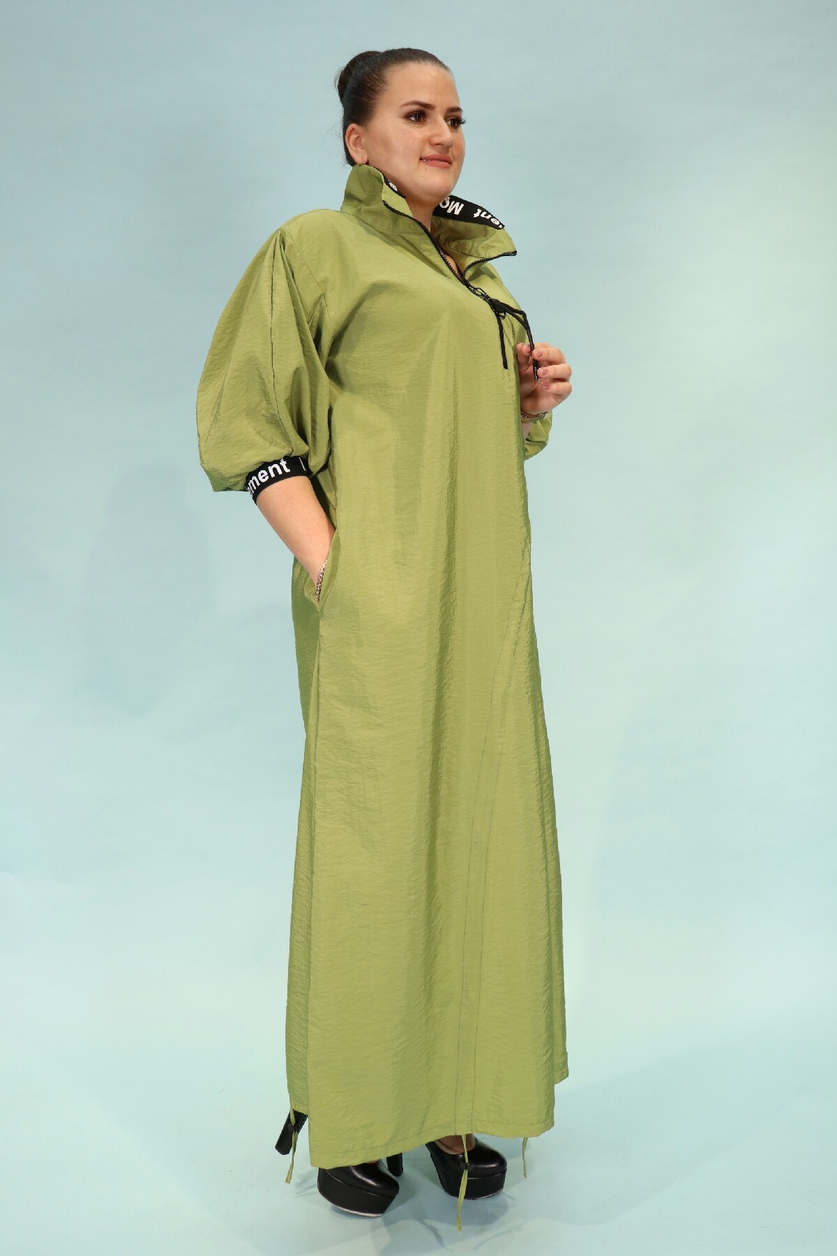 Day Dresses Long-Neon Green