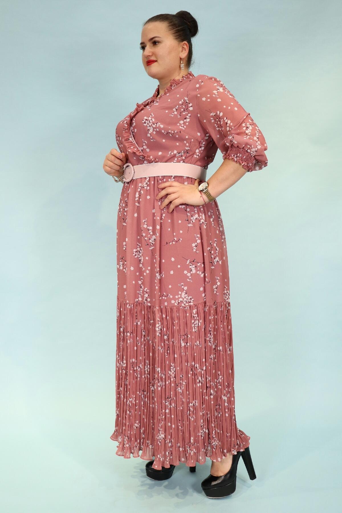 Day Dresses Long-powder pink