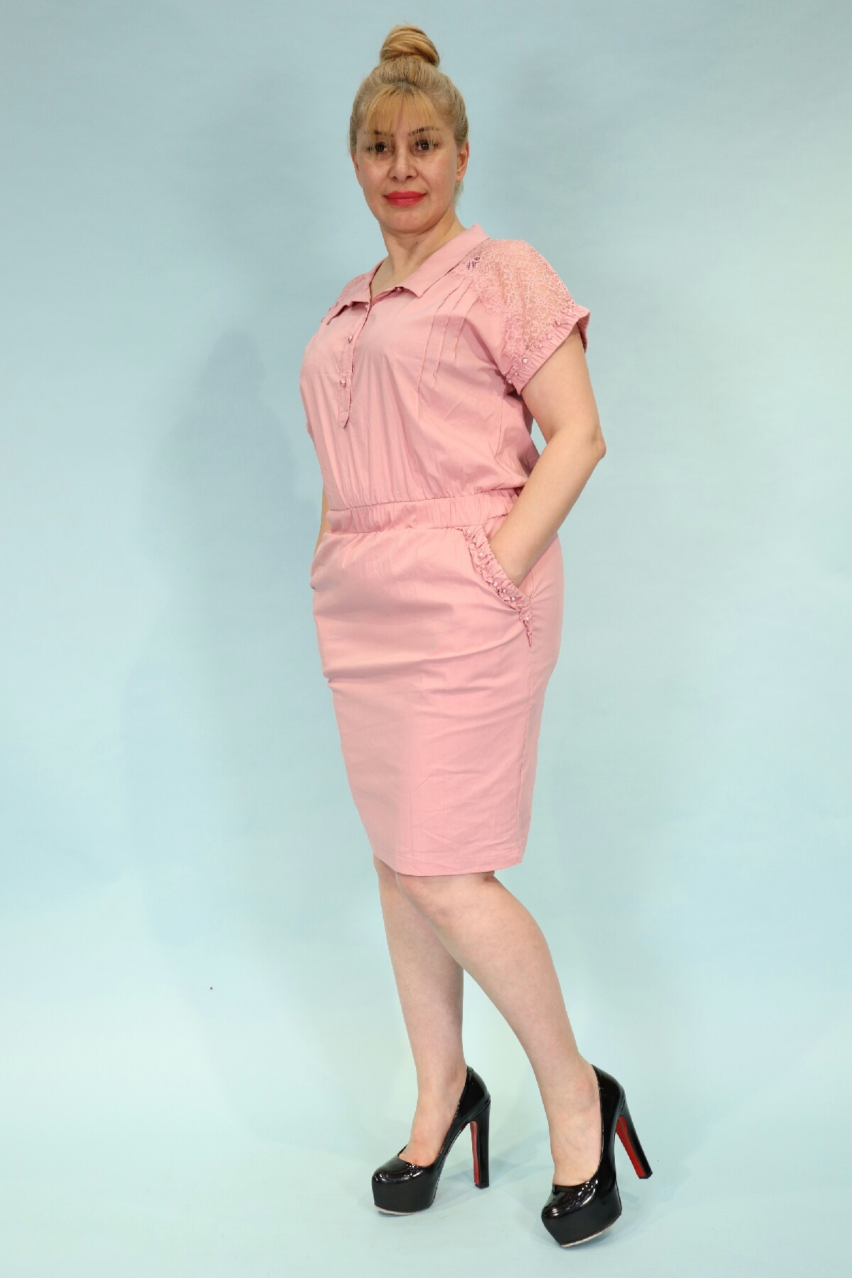 Day Dresses Medium-Pink